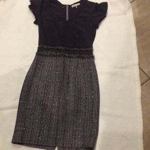 Rebecca Taylor silk and tweed dress